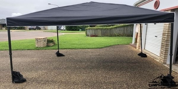 How to Hold Down Canopy Tent on Concrete